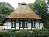 A traditional farm house near Bremerhaven in Germany