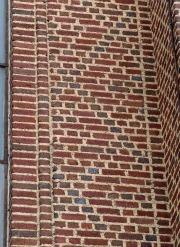 Diaper Pattern of diamonds adorns the Rock of Faith Baptist church in Columbus, Ohio