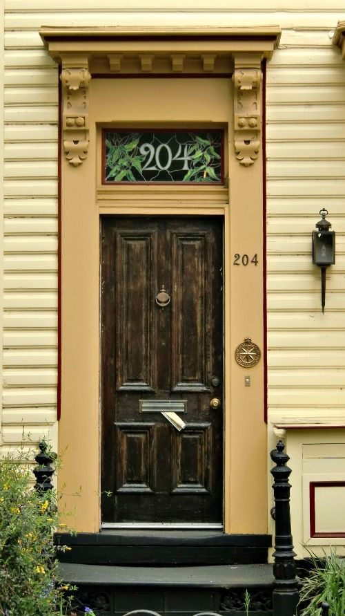 A typical paneled door