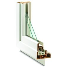 An cross-section of a double pane window