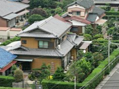 A view of a Japanese Houses from my Hotel Room in Hiratacho, Suzukashi