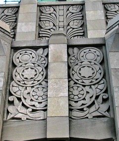 Art deco bas relief atop the aldred building in montreal for Art deco architectural details