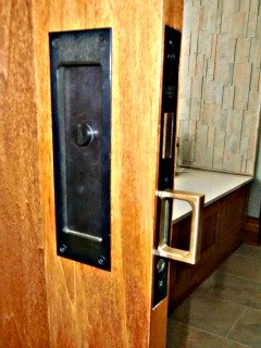 Pocked door handles in a wheelchair accessible home