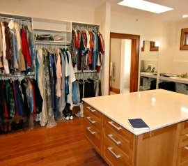 Accessible laundry room closet