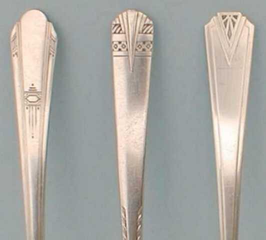 Art Deco silverware patterns