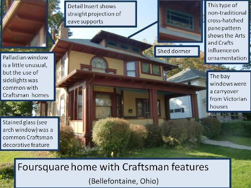Craftsman Style Foursquare House
