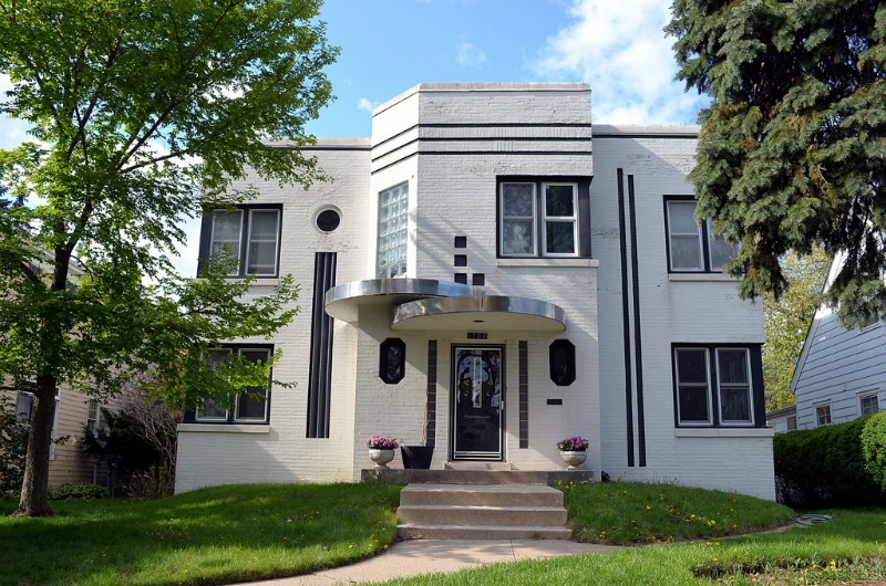 Art deco home for Art deco house design