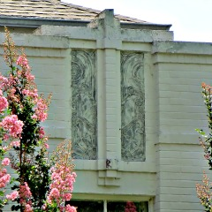 Detail on Art Deco home designed b Joseph R. Koberling