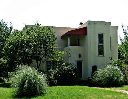 Art Deco home designed by Bruce Goff for Adah Robinson