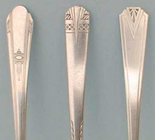 Art Deco silverware patterns