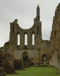 Byland Abbey gothic ruin, Yorkshire, courtesy of Raffstein at Wikimedia, http://commons.wikimedia.org/wiki/File:Byland_Abbey.jpg
