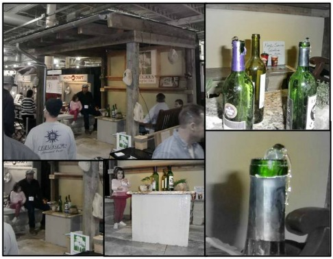 A collage of pics showing the coffee table water fountain at the 2012 Columbus Home and Garden Show