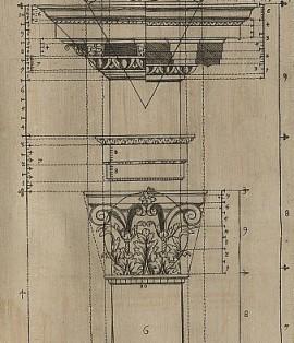 Corinthian column showing proportions