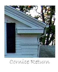 A cornice return - It suggests where the entablature should go, without being as obtrusive.