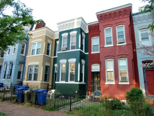 Row Houses In Cities Are Often Colorful As Is This Neighborhood D C