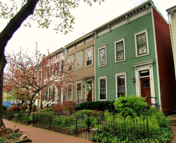 In Contrast To The Vibrant Colors Of Guanajuato These Row Houses In DC Tend  To Muted, Neutral Colors.