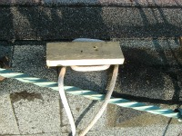 DIY Roofing Safety - The cleat at the top of the roof for securing the safety strap