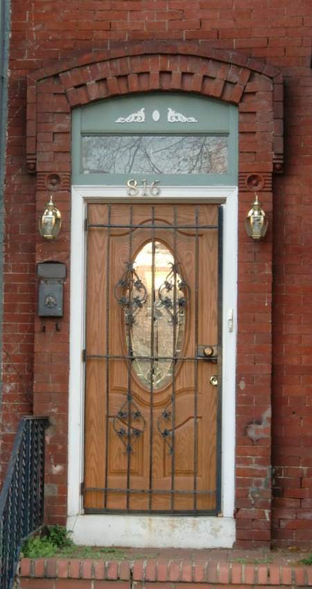Note how the raised brick creates a visual frame for the door.  This helps our brain realize that something of note is contained within the frame.