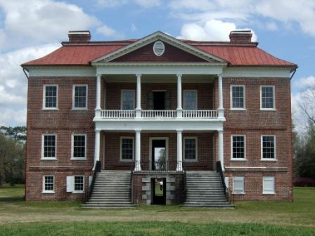 Drayton Hall Palladian House - photo courtesy of goingstuckey at wikipedia - GNU Free - http://en.wikipedia.org/wiki/File:Drayton_Hall_2007.jpg