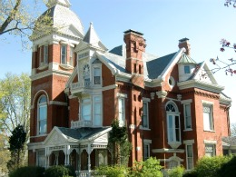 a brick queen anne showing with a strong classical bent in findlay ohio - Steamboat Gothic House Plans