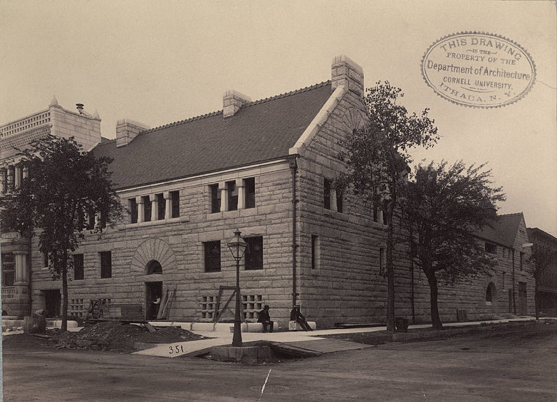 Glessner house almost completed - Courtesy collection at Cornell University - a school that refused me entrance, but why hold a grudge.