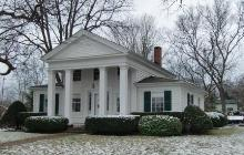 An unnamed Greek Revival House in Dexter, MI discovered on my tour of historic homes