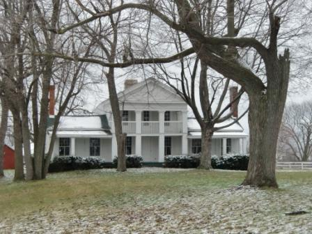 Greek Revival Architecture, Gray Farmhouse, Dexter,MI
