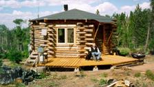 The original handcrafted log home