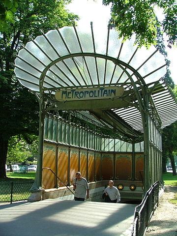 Subway entrance by Hector Guimard in the Art Nouveau style