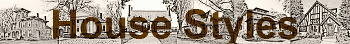 A collage of houses in various styles done as a pencil sketch