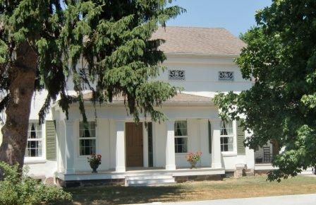 Hurd-Tefft Stephen Mills Adobe brick Greek Revival House Saline MI