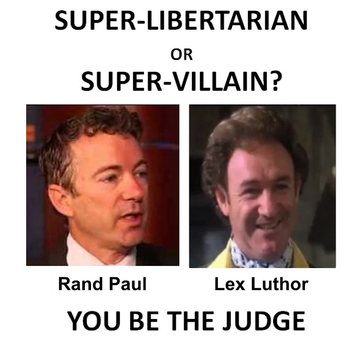 Further review reveals that Rand Paul is not the Anti-christ but evil mastermind Lex Luthor