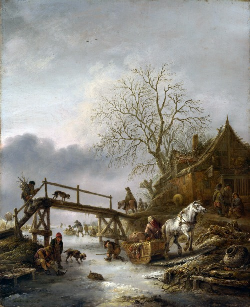 Old Master's houses - Isaac van Ostade - Winter Scene - 1645