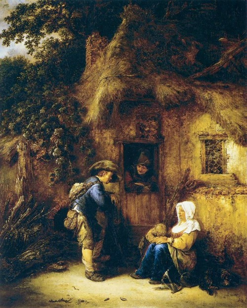 Old Master's Houses - Isaac van Ostade - Traveller at the Door -1649