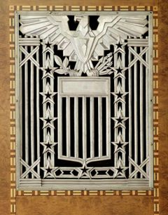 Art Deco Grill  with and Eagle inside James Foley Courthouse