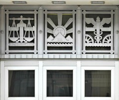 Art Deco Architecture James T. Foley Courthouse Transom over Door