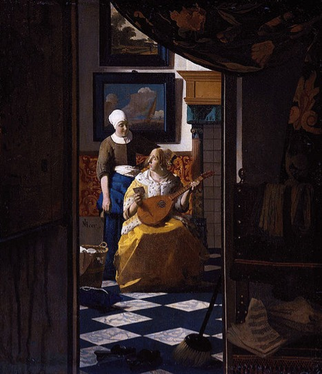 Houses in Art - Jan VerMeer - The Love Letter - 1668