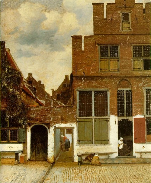 Art Jan VerMeer Street Scene in Delft 1658