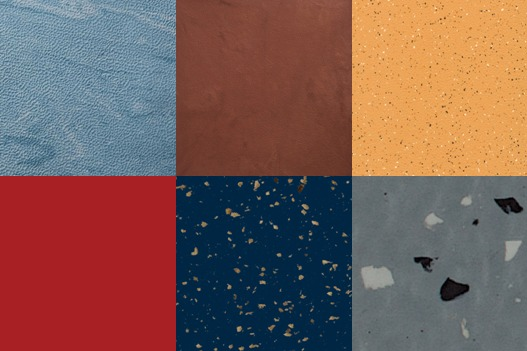 A collection of the rubber floor tiles available from Johnsonite.
