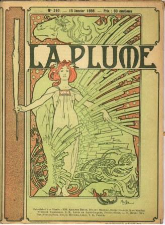 Art Nouveau – La Plume Magazine Cover