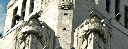 Guardians of the Leveque Tower Art Deco Skyscraper