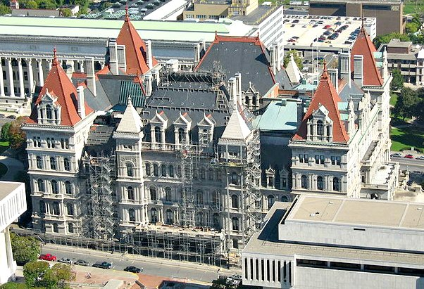 New York State Capitol - Henry Hobson Richardson was one of several architects involved in this project.
