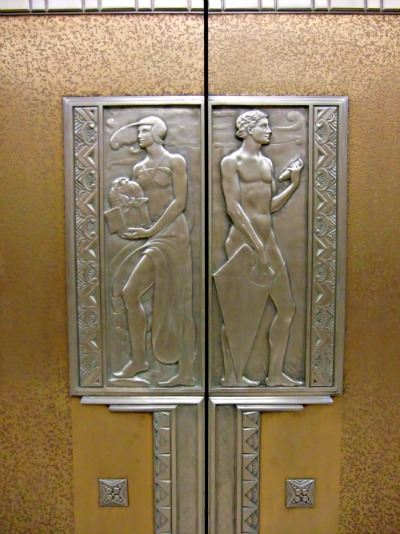 Art Deco Ohio Supreme Court Building Elevator Door Wind Bas Relief Paul Fjelde 1932