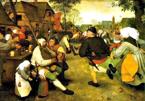 Houses in Art Peter Bruegel the Elder Peasant Dance