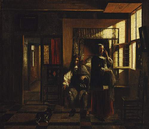 Houses in Art - Interior - Interior with Young Couplel