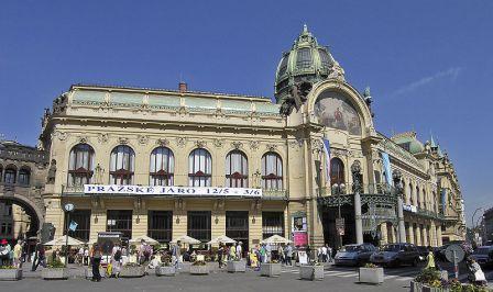 Municipal House by Josef Fanta in the Art Nouveau style