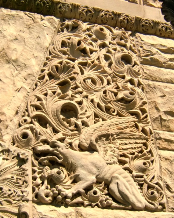 This bas relief block on the Romanesque courthouse in Bowling Green, OH is emblematic of how nature has informed our use of decoration in the past