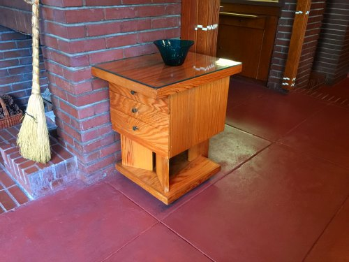 End Table in Rosenbaum House, a Frank Lloyd Wright Usonian House