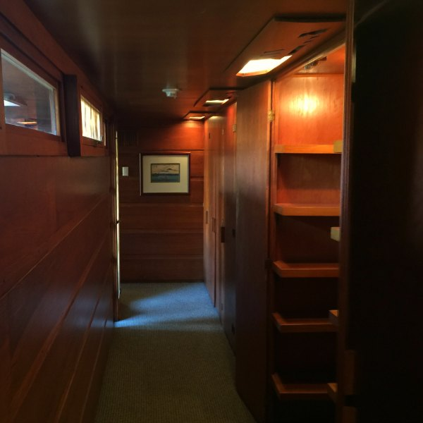The hallway for the expansion of the Rosenbaum House - A Frank Lloyd Wright Usonian House