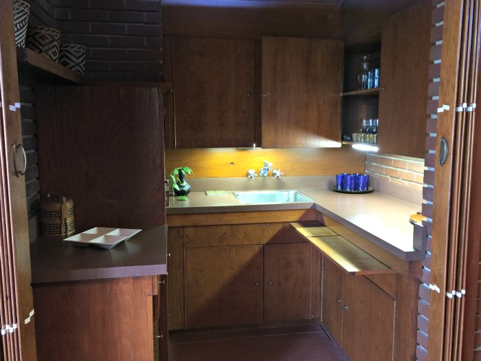The original kitchen in the Rosenbaum House - A Frank Lloyd Wright Usonian House